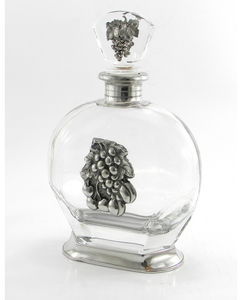 Puccini bottle with pewter plate
