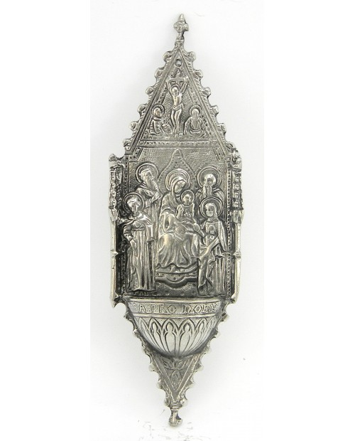 Weihwasserbecken madonna heilig, Zinn