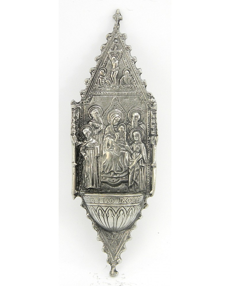 Stoup madonna holy, Pewter
