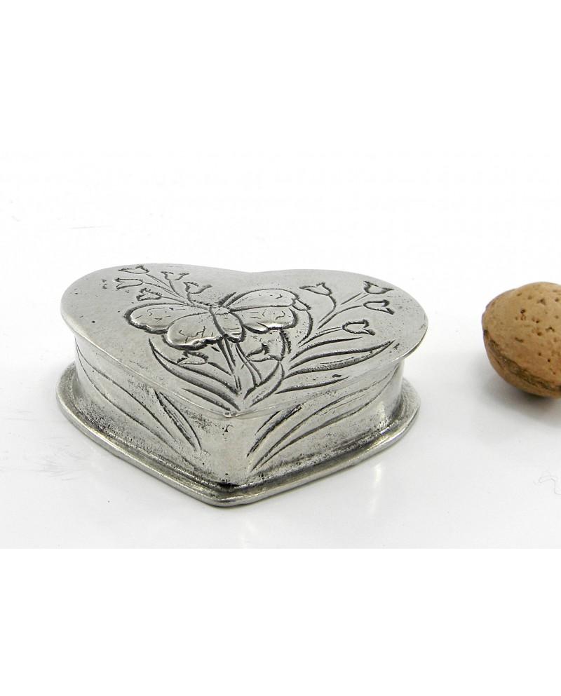 Scatolina portapastiglie cuore 6x6 cm