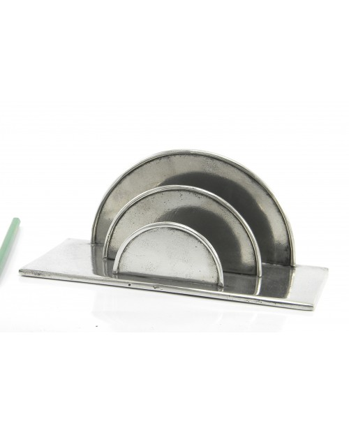 Mail holder pewter semicicloin