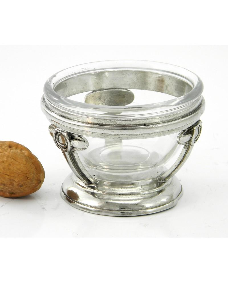 Smooth large pewter bowl