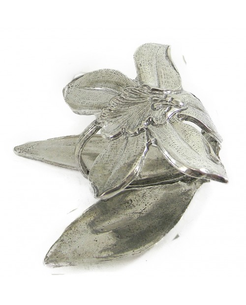 Pewter Napkin orchid