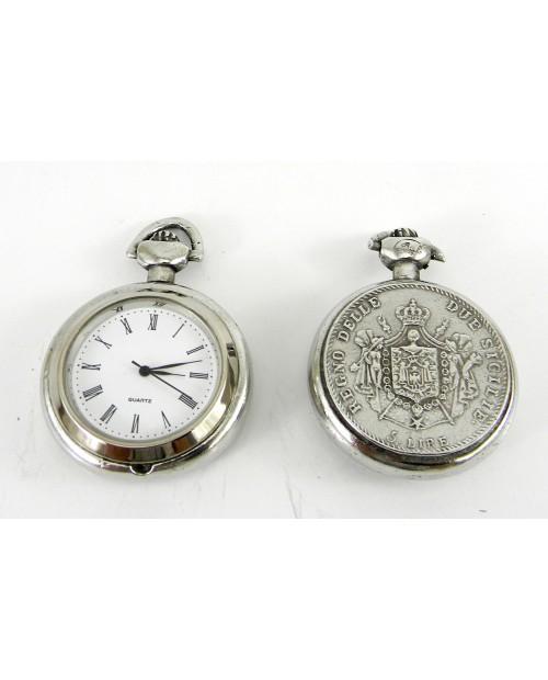 Orologio da taschino medaglia italiana  diam. 40 mm