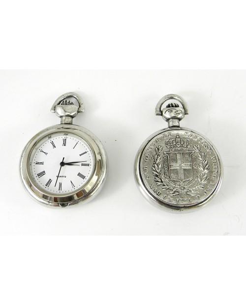 Orologio da taschino moneta italiana