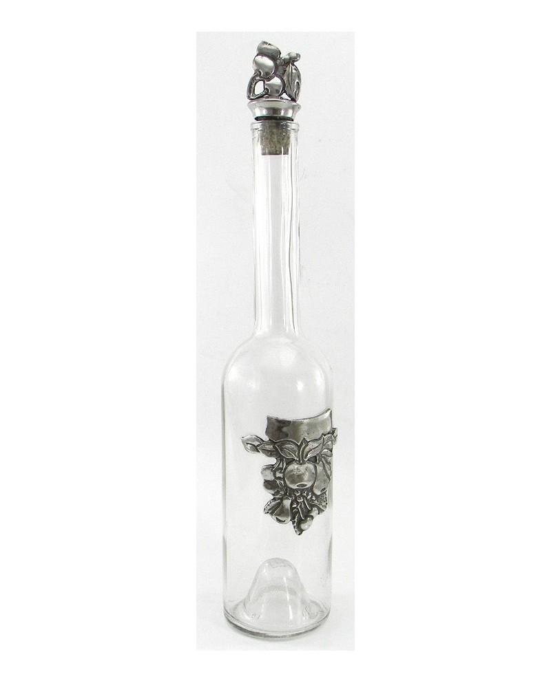 Apple brandy bottle round pewter