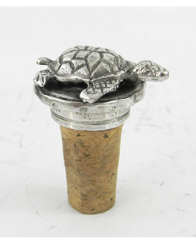 Tappo in peltro tartaruga