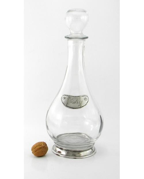 Whiskey-Flasche aus Zinn