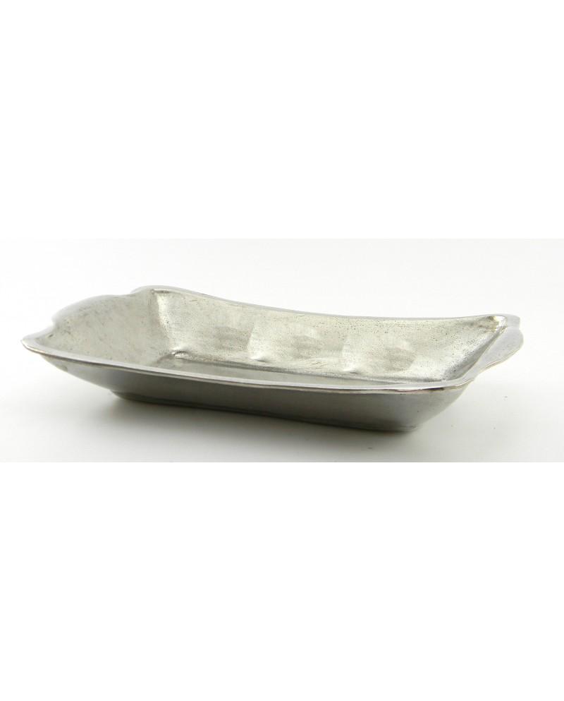 Rectangular basin smooth pewter