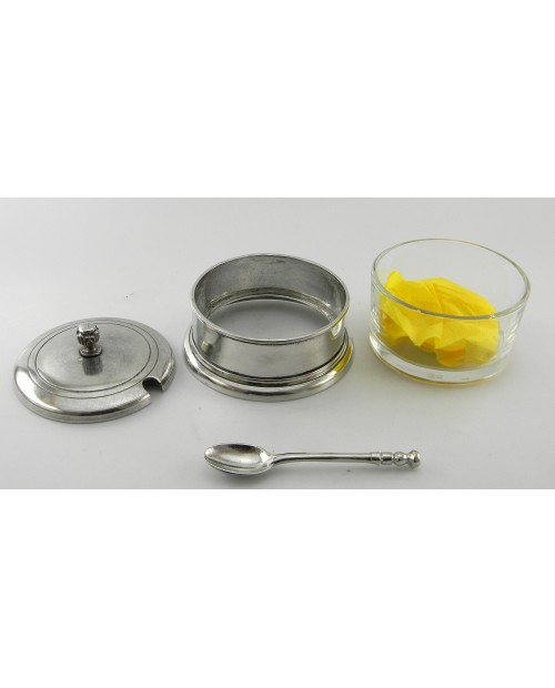 Grated cheese smooth, pewter