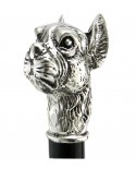 Elegant walking stick for man and woman dog bulldog vintage ceremony wood and metal collection Cavagnini
