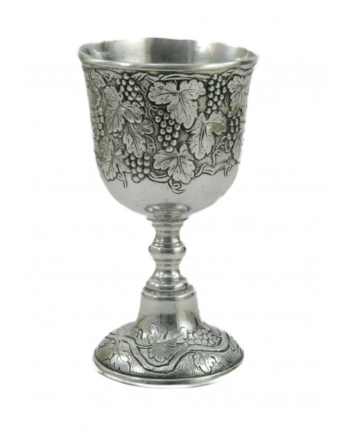 Pewter goblet grapes