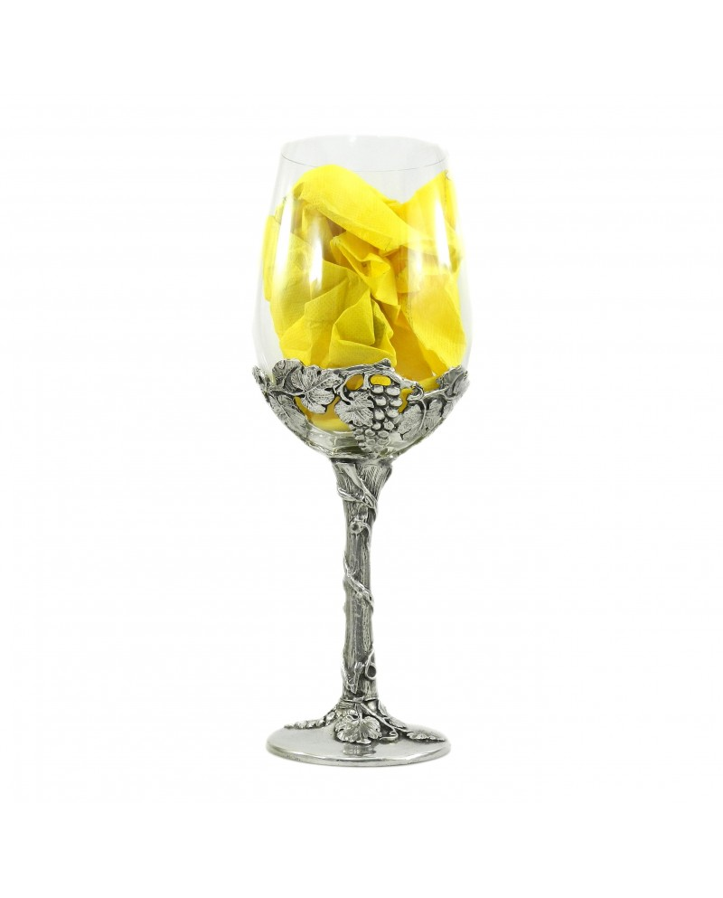 Glass for white wine, classy glass and design. Big glass Christmas gift. Cavagnini free engraving