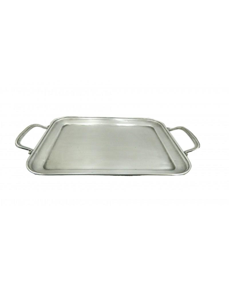 """Rectangular pewter tray """"medium"""" BSP 31.5 x 25.5 cm / 12.4 x 10.04 inches"""