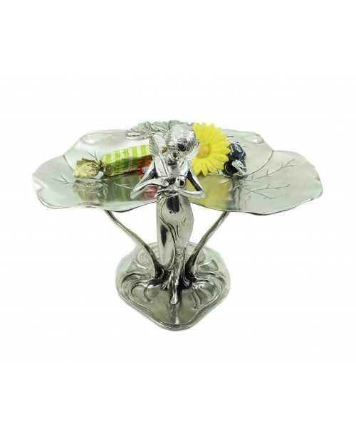 Pewter stand made in Italy, venere with elegant CAVAGNINI artisan quality wings