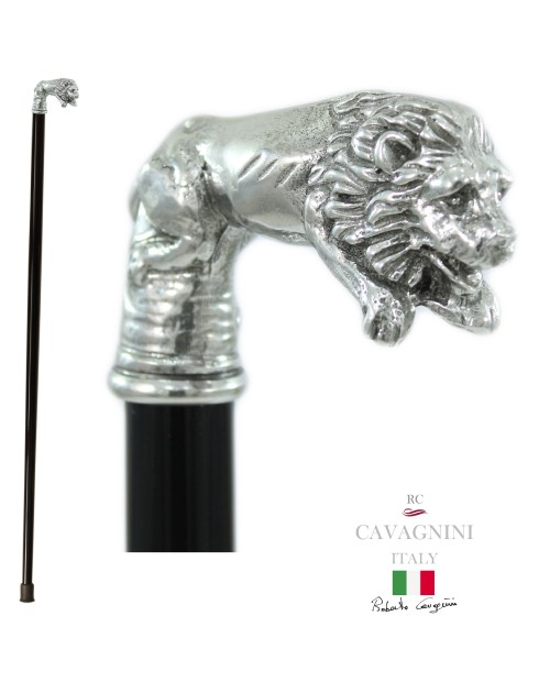 Elegant and Ergonomic Walking Canes. Stick for elderly Lion solid and robust, customizable. Cavagnini quality gift