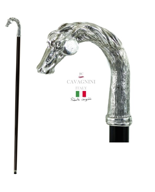 Stick for men and women, horse, elegant and solid, walking stick for young people. Cavagnini