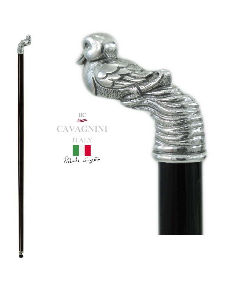Sticks for woman, duckling knob. Solid and elegant walking stick