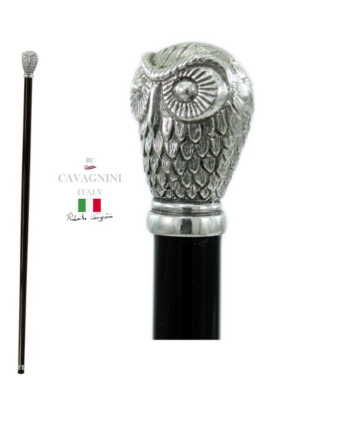 Walking sticks for the elderly in pewter and wood. Resistant and customizable Cavagnini. Pomolo woman