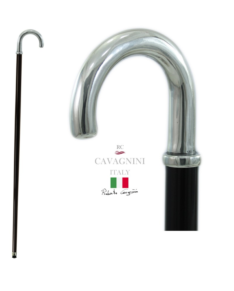 Walking stick for the elderly, Hook knob. Customizable. Stick for women and men. Made in Italy