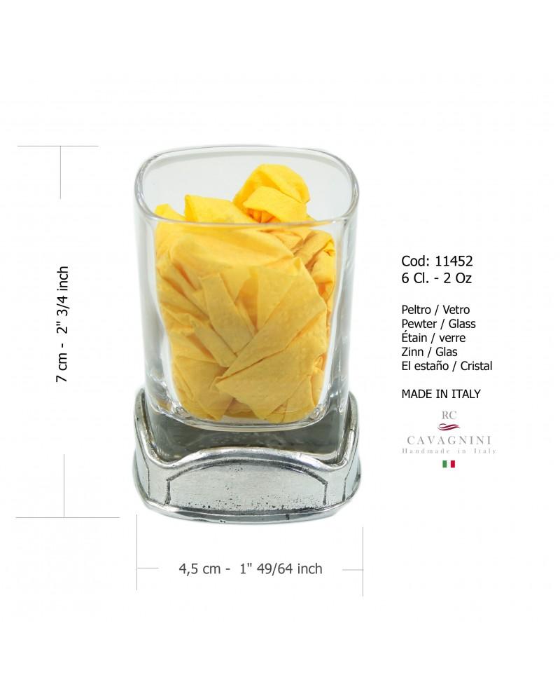 Bicchiere quadro liquore