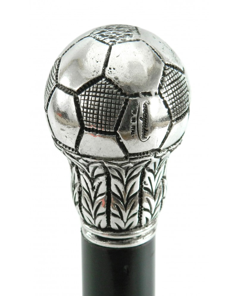 Walking sticks, Mens Cane, soccer ball, footballer, Italy, Customizable with engraving, Cavagnini