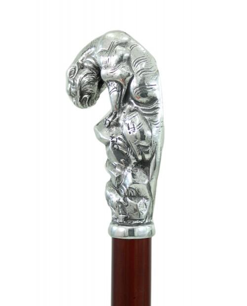 Elegant walking stick handmade in Italy. Customizable puma design cane Cavagnini