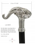Elegant and handcrafted walking stick, elephant handle, wood and pewter