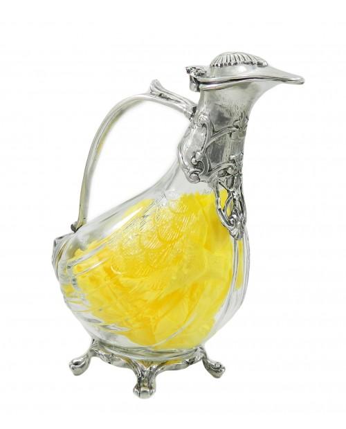 Bottle duck Nouveau pewter