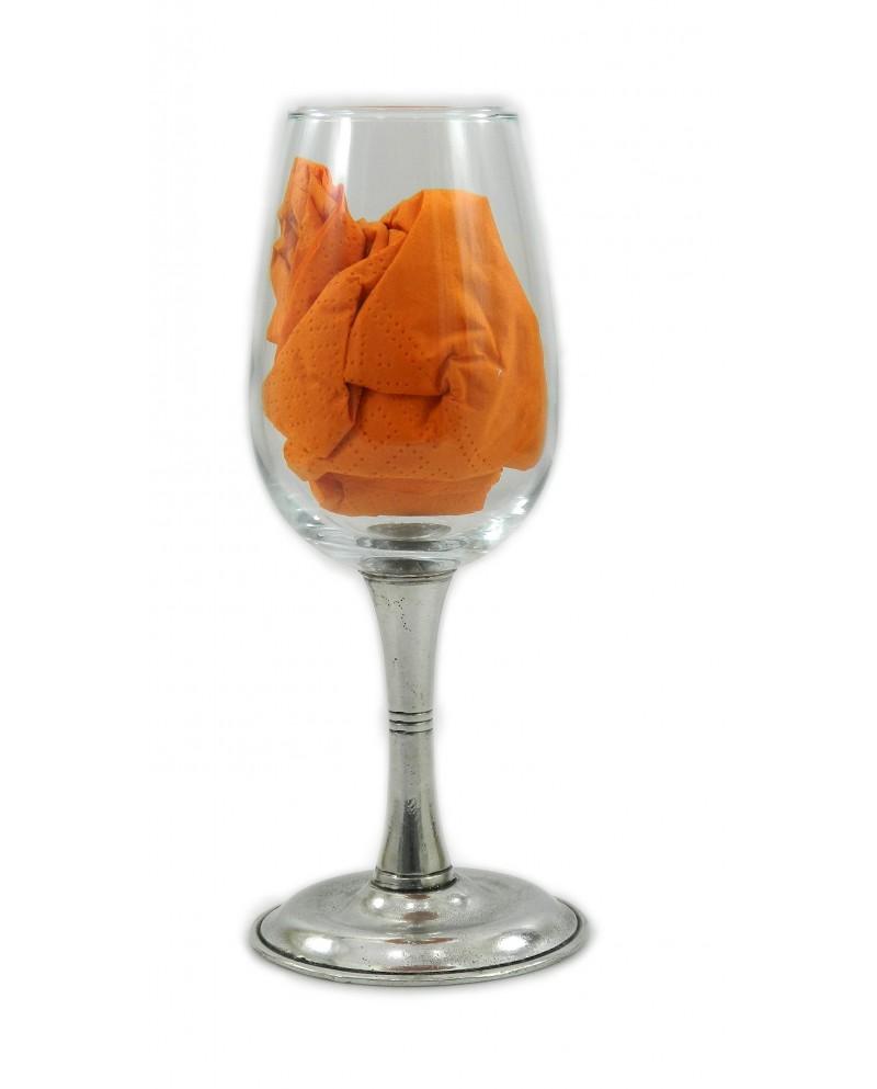 Bicchiere ,due righe ,acqua ,in peltro
