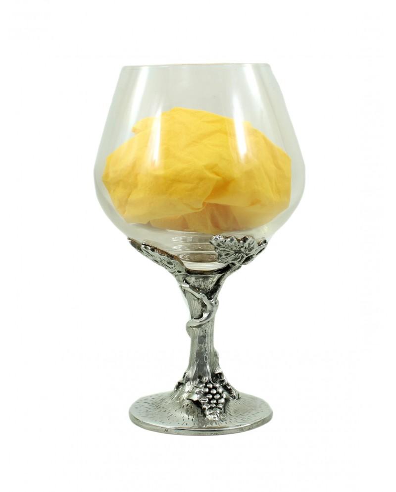 Vidrio, el brandy, cristal uvas, peltre