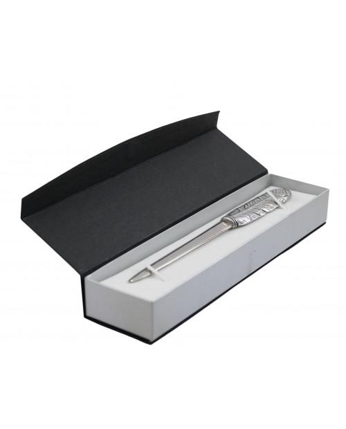 Federbrieföffner aus Zinn und Edelstahl, elegantes edles Geschenk