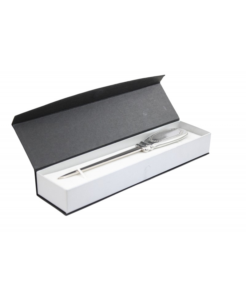 Flat letter opener, in pewter and stainless steel, elegant classy gift