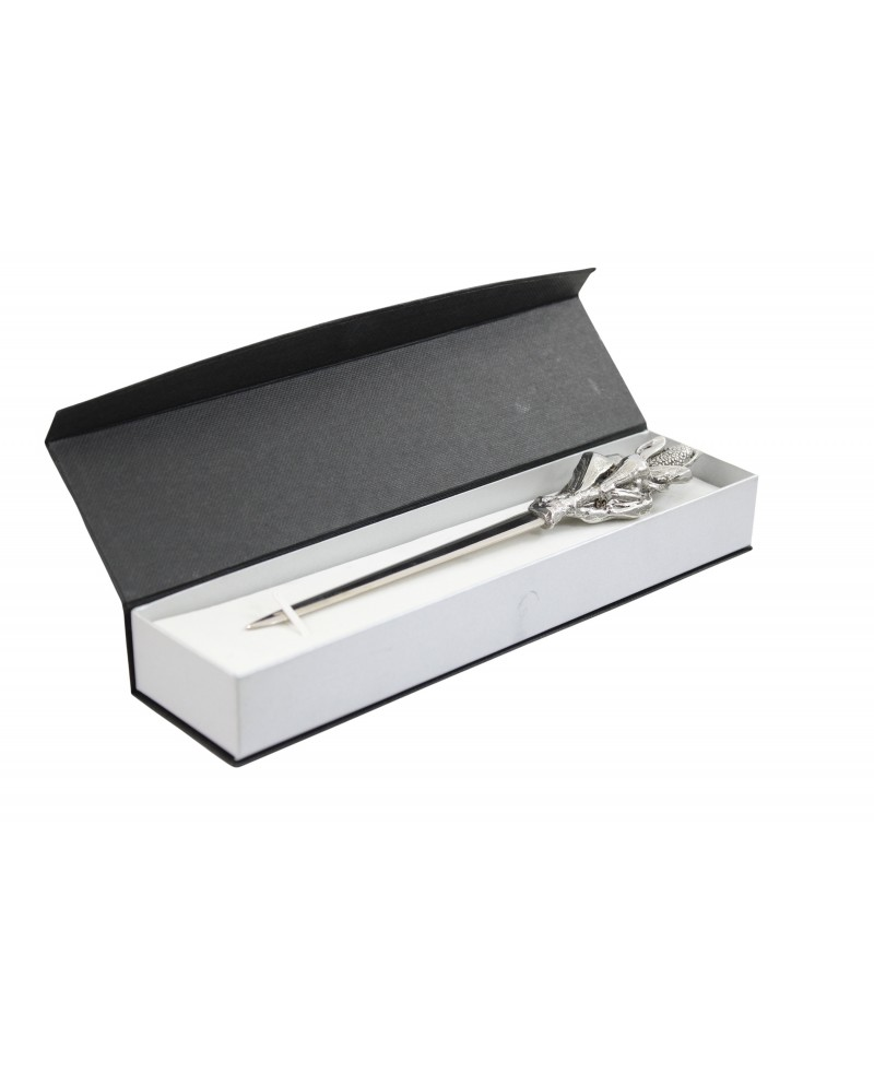 Cob letter opener, in pewter and stainless steel, elegant classy gift