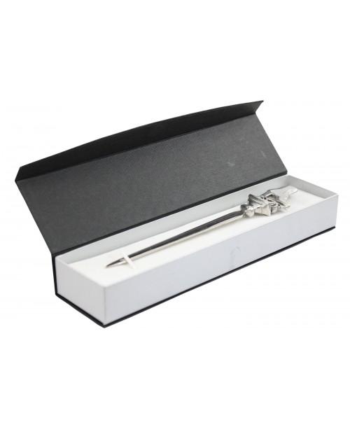 Skate Brieföffner, aus Zinn und Edelstahl, elegantes edles Geschenk