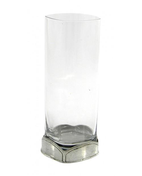 Bicchiere ,quadrato, flute ,in peltro