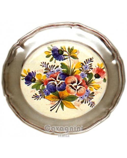 Piatto 700 fiori colorati