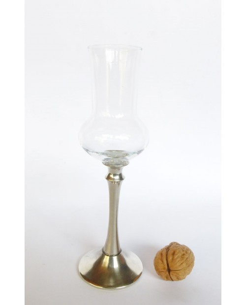 Long-stemmed glass grappa Pewter