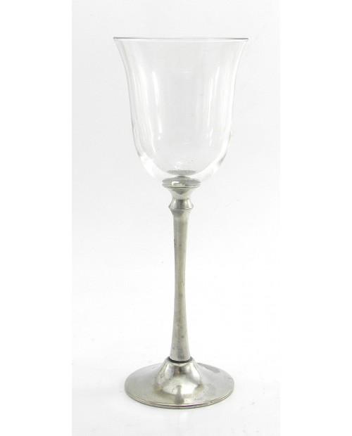 Bicchiere ,stelo lungo ,acqua, in peltro