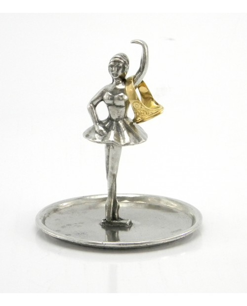 Ballerina ring holder, handmade by master Roberto Cavagnini in Italy