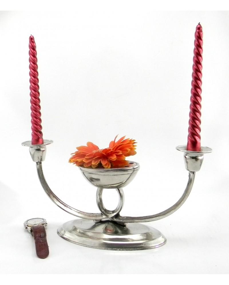 Candelabro vasetto fiori ovale