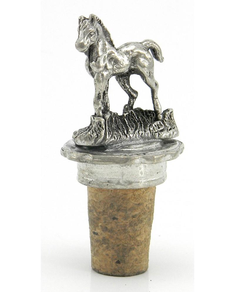 Cap pewter horse