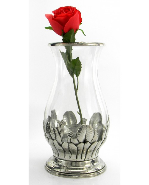 Vase, Petals Tulips, Pewter