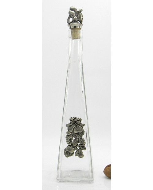 Pear brandy bottle pyramid Pewter