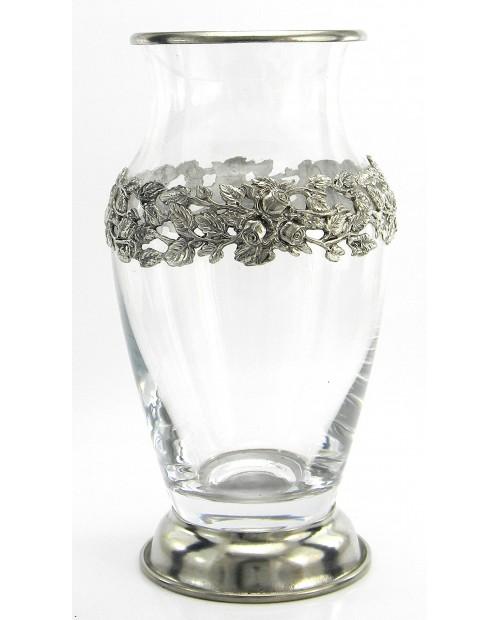 Vase, marco, estaño y vidrio