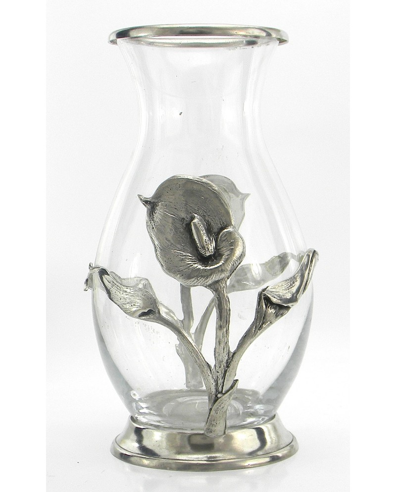 Vase, Calle, Pewter