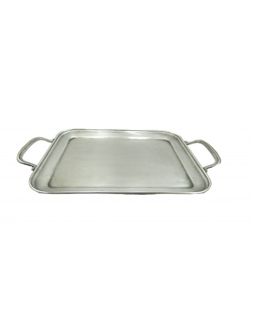 "Rectangular pewter tray ""medium"" BSP 31.5 x 25.5 cm / 12.4 x 10.04 inches"