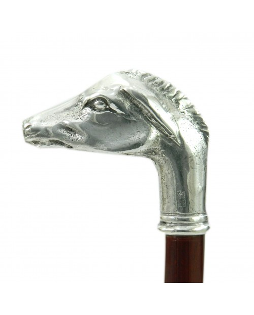 Donkey head handcrafted walking stick, Christmas gift, Cavagnini