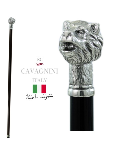 Walking stick with bear knob for men and women elegant Cavagnini orthopedic