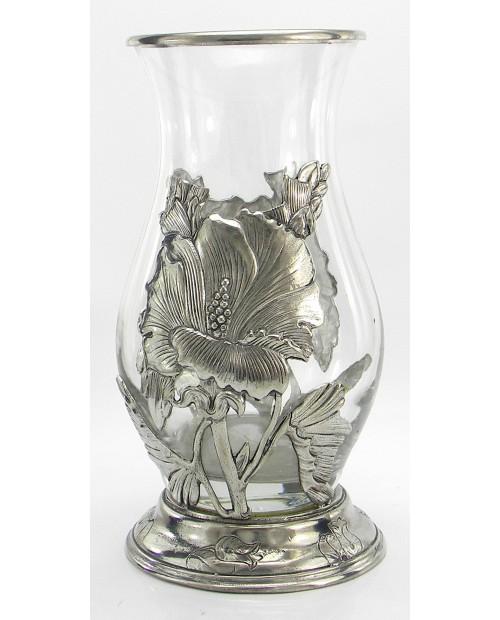 Vase, Iris, Pewter